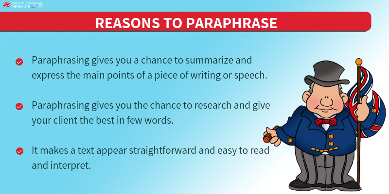 reasons to paraphrase