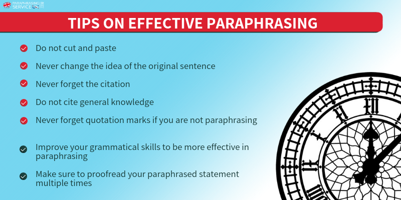 5 important mistakes in paraphrasing london