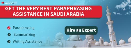 saudi arabia paraphrasing help online