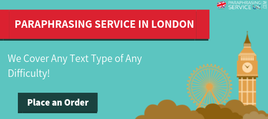 paraphrasing service in london